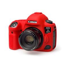 EasyCover Silicona Piel Funda blindada para adaptarse a Cámara Canon 5D MKIV-Rojo 5D4 Mk4