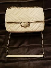 Authentic Michael Kors Vegan Faux Leather Optic White Peyton Shoulder Bag