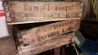 antike alte Bierkiste Holz Bierkasten  Dampfbrauerei Zwenkau bei Leipzig