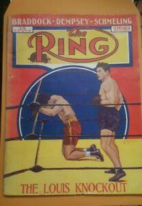 Vintage Ring Boxing Magazine. September 1936. Joe Louis Max Schmeling.
