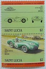 1954 ASTON MARTIN DB3S Car Stamps (Leaders of the World / Auto 100)