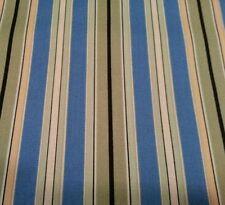 Hydrangea Bounty by Angela Anderson for VIP BTY Stripe Blue Green Black