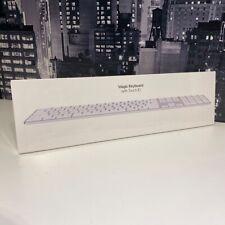 Apple Magic Keyboard with Touch ID and Numeric Keypad White MK2C3BA British UK
