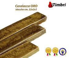 Ceralacca  Metalizzata 5 stecche  cm. 23x2x1 Extra fine colore ORO