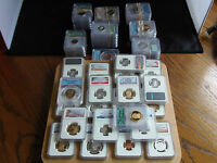 Graded PF-70 Cert Perfect Coins Silver Kennedy's,Pres Dollars,State Qrts,Sacs,~