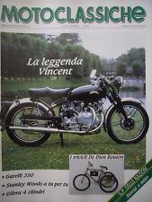 Motoclassiche n°23 1989 - La Leggenda Vincent -I Tricicli di Dion Bouton   [Q36]