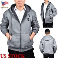 Electric Heated Coat Mens Womens Heating USB Winter Warm Hoodie Jacket Outdoor
