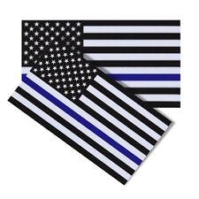 2pcs USA  AmericanFlag Blue Strap Car Sticker Paper Decal Decoration 6.5*11.5CM