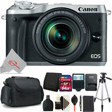 Canon EOS M6 Mirrorless Camera Silver with 18-150mm Lens + 64GB Accessory Kit