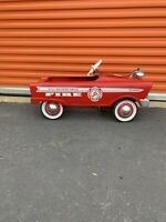 ORIGINAL MURRAY Restored PEDAL CAR FIRE CHIEF