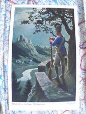 Landschaft Soldat Städtchen Nacht Gemälde Kunstwerk Postkarte Ansichtskarte 3014
