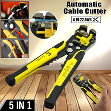 Automatic 5In1 Electrical Cable Wire Stripper Cutter Crimper Multi-Tool Pliers