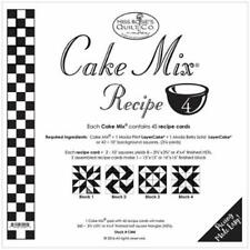 MISS ROSIE'S QUILT CO~CAKE MIX RECIPE 4~45 SHEETS 4 LAYER CAKE PAPER TRIANGLES