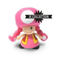 SUPER MARIO BROS TOADETTE FIGURE action wii u 3ds toad fungo kart nintendo party