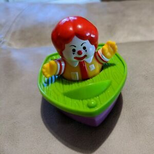 Vintage 1996 McDonalds Fisher Price Ronald McDonald Boat Toy Collectible