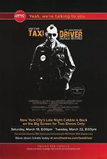 Taxi Driver 35Th Anniversary  Original Movie Poster One Sided 27X40