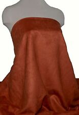 "FAUX SUEDE FABRIC 100% POLYESTER, DOUBLE FACE, SOFT 60"" TERRA COTTA , CLOTHING"