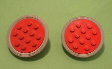 LEGO Rad 2 x Räder rot 4x4 mit Stift Gummireifen hellgrau 715
