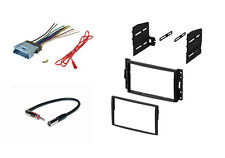 Double Din Stereo Dash Kit Harness Antenna for 05-10 Buick Chevy Pontiac Saturn