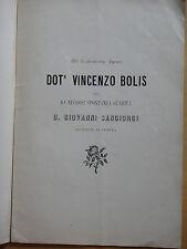 1885-Dott.VINCENZO BOLIS-D.GIOVANNI SANGIORGI ARCIPRETE DI PIDEURA-BRISIGHELLA