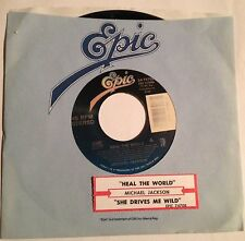 Michael Jackson 45 Heal The World / She Drives Me Wild  w/ts  NM-M