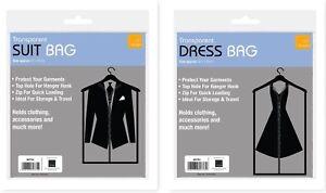 Transparent Dress /  Suit Cover Skirt Garment Coat Clothes Travel Bag Carrier
