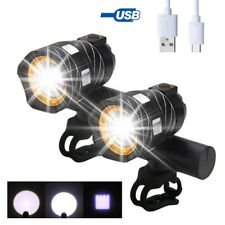 2x USB Rechargeable 15000LM T6 LED Zoomable Head Lamp Mountain Bike Front Light