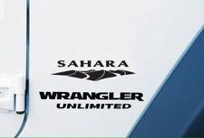 2 of Jeep Wrangler Sahara Unlimited Refresh Kit Vinyl Stickers Decal Black