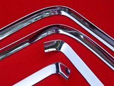 1966/67 GTO CHEVELLE 442 GS REAR WINDOW MOLDINGS, ORIGINAL GM, PROF-POLISHED