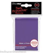 50 Ultra Pro Trading Card Sleeves - Standard Purple Deck Protectors.