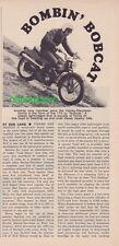 "1966 Harley-Davidson 175 - ""Bobcat"" - 2 + page article - Very rare!"