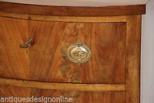 Antique mahogany Regency Empire bow front chest drawers hallway console bedside