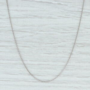 "New Cable Chain Necklace 18"" 950 Platinum 1mm Lobster Clasp"