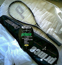 Vtg Prince Triple Threat Stealth Squash Racquet Racket - Unplayed