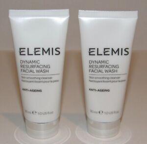 2 Elemis Dynamic Resurfacing Facial Wash 1 Oz Each Travel Size Face Cleanser Lot