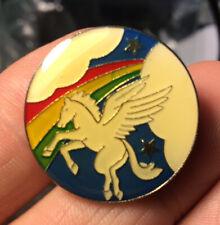Pegasus enamel pin vintage Nos horse rainbow wings greek myth new hat lapel 80s