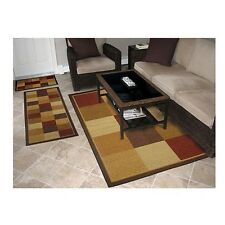 Area Rugs For Living Room On Sale 3 Piece Carpet Non Skid Backing Mat Runner