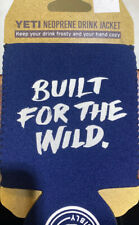 "Yeti Neoprene Drink Jacket ""Built for the Wild""- New"
