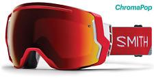 NEW Smith I/O7 Goggles-Fire Split-Chromapop Red+Bonus Lens-SAME DAY SHIPPING!