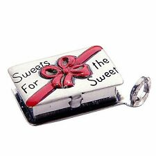 Vintage sterling silver CHOCOLATE CANDY BOX MOVABLE BEAU charm RARE BEAUCRAFT