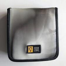 CASE LOGIC CD DVD Wallet - Storage Case - 24 Disc Capacity - BLACK & SILVER