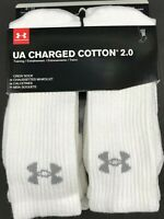 Under Armour Performance Crew Socks 3 or 6 Pair Men's and Women Size Large
