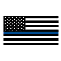 Thin Blue Line Flag Police Support Vinyl Decal Sticker