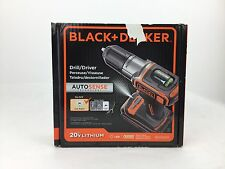 BLACK&DECKER 20V LITHIUM DRILL /DRIVER WITH AUTO SENSE TECHNOLOGY  BDCDE120C
