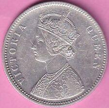1876 British India Victoria Queen A-1 verity rupee silver coin