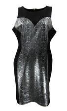 Women's Scoop Neck Plus Size Sleeveless Wiggle, Pencil Dresses