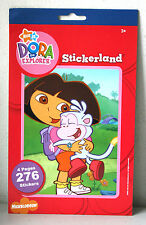 Dora The Explorer Stickerland 276 Stickers Pad Lot of 10