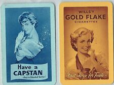 Swap Playing Vintage Cards- Advertising Capstan &Gold Flake Cigarettes
