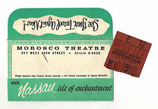 "Tennessee Williams ""CAT ON A HOT TIN ROOF"" Barbara Bel Geddes 1956 Ticket Stub"