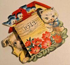1943 Wall Calendar Never Use Rare NOS  --  2137